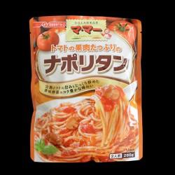 トマトの果肉たっぷりの ナポリタン